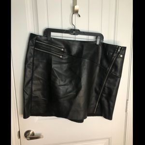 Torrid faux leather mini skirt, 4 (runs small)